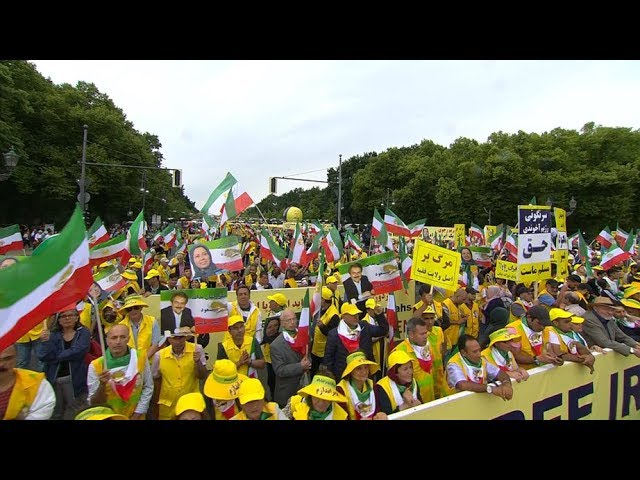 Highlights of the Free Iran 2019 march in Berlin