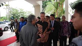 PM Lee Hsien Loong meets Malaysian PM Mahathir Mohamad