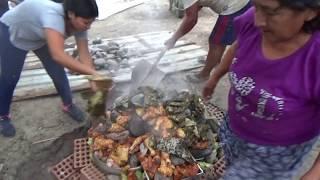 Preparando la PACHAMANCA de HUANCAYO