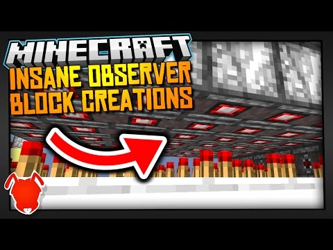 5 INSANE OBSERVER BLOCK CREATIONS in MINECRAFT 1.11