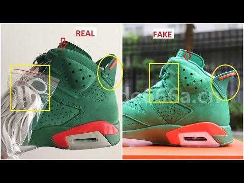 8c0825a79ce Real VS Fake Air Jordan 6 NRG Gatorade Green Updated - YouTube