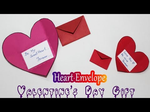 DIY Origami Heart Envelope | Valentines Day Gift for Boyfriend / Girlfriend | Easy Craft Ideas