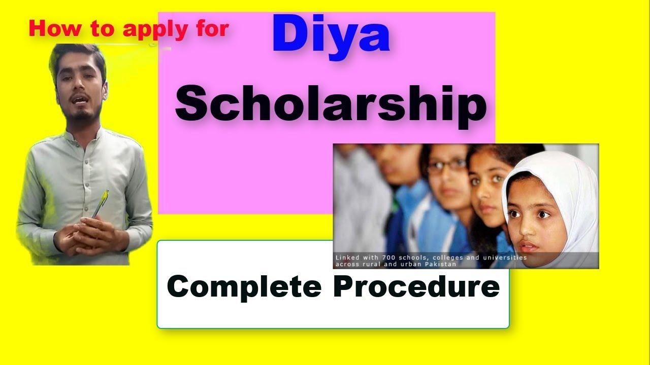 Diya Scholarship Online Application Form 2015, Apply For Diya Scholarship Complete Process Urdu Hindi, Diya Scholarship Online Application Form 2015