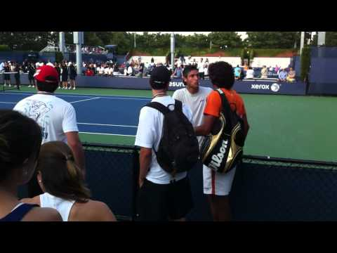 Joao Sousa argues with fan after loss in US Open Qualifying to Mello