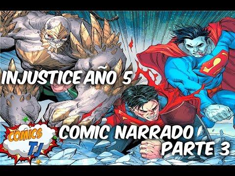 INJUSTICE Año 5 parte 4 comic narrado Bizarro Vs Doomsday Vs SuperMan @SoyComicsTj