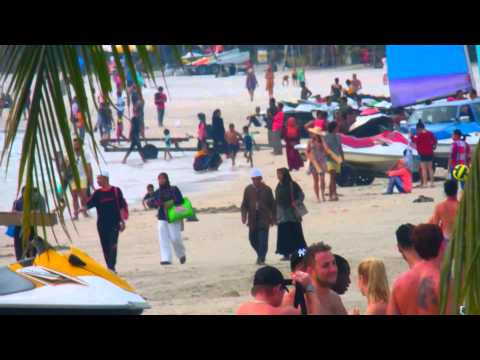 LANGKAWI CENANG BEACH MALAYSIA 2013 DECEMBER FLEXING...