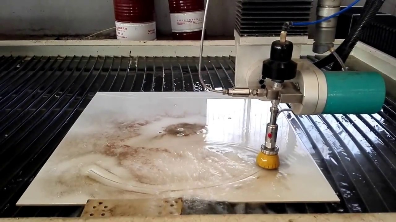 5 Axis Water Jet Cutting Machine For Marble And Stone Mosaic Cnc Cutting