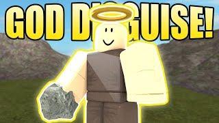 NOOB DISGUISE TROLLING W/ GOD ARMOR 2! | ROBLOX: Booga Booga