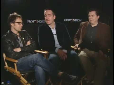 "SAM ROCKWELL MATTHEW MACFAYDEN OLIVER PLATT ""FROST/NIXON"" INTERVIEWS"