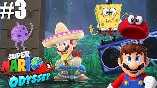 BAILANDO A LO BOB ESPONJA 🎵📻 - Super Mario Odyssey #3   En Español por ZetaSSJ