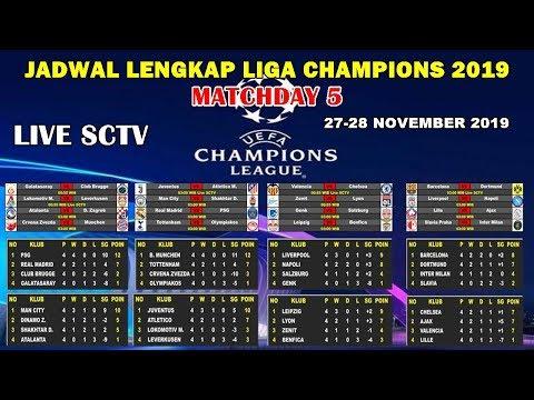 Jadwal Siaran Langsung Liga Champions 2019 Matchday Ke 5   UEFA CHAMPIONS LEAGUE 2019 MATCHDAY 5