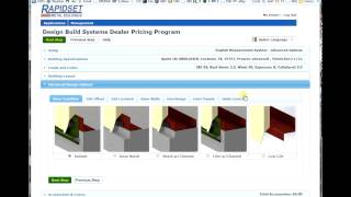 Online pricing of an advanced single slope steel building design