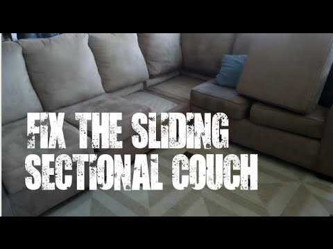 DIY Fix The Sliding Sectional Couch / Sofa   YouTube