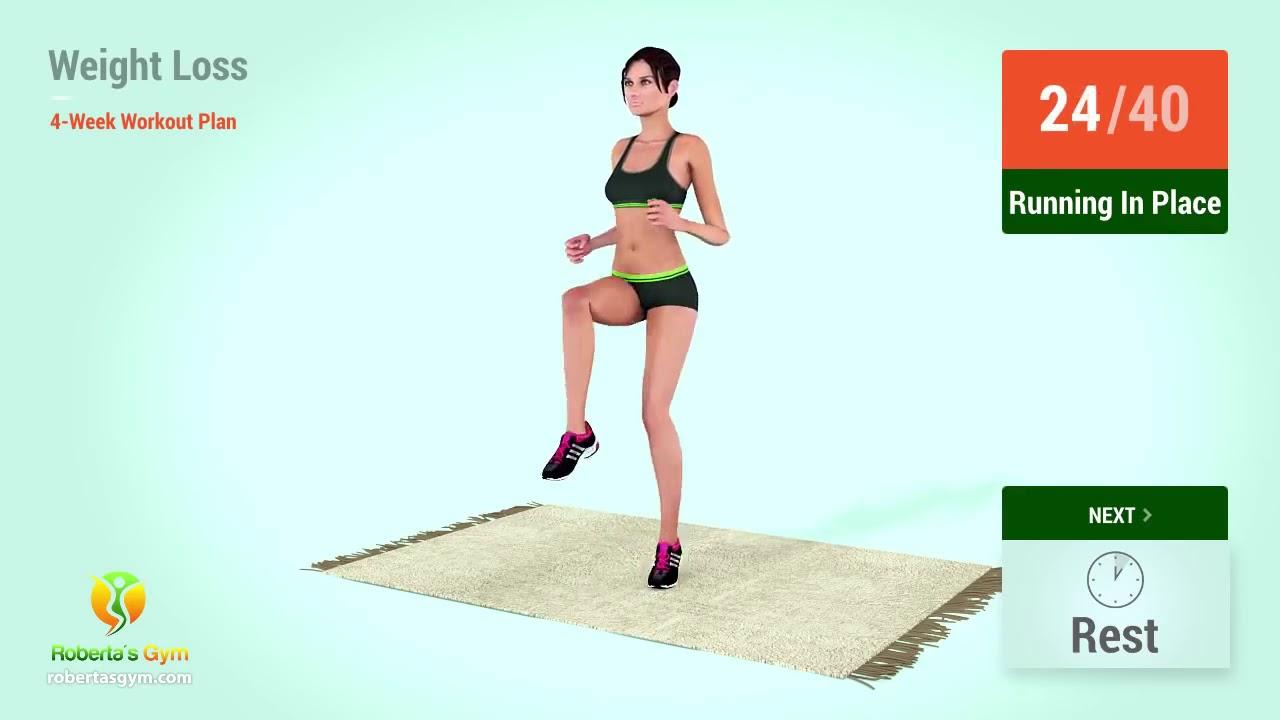 4 Week Weight Loss Workout Plan