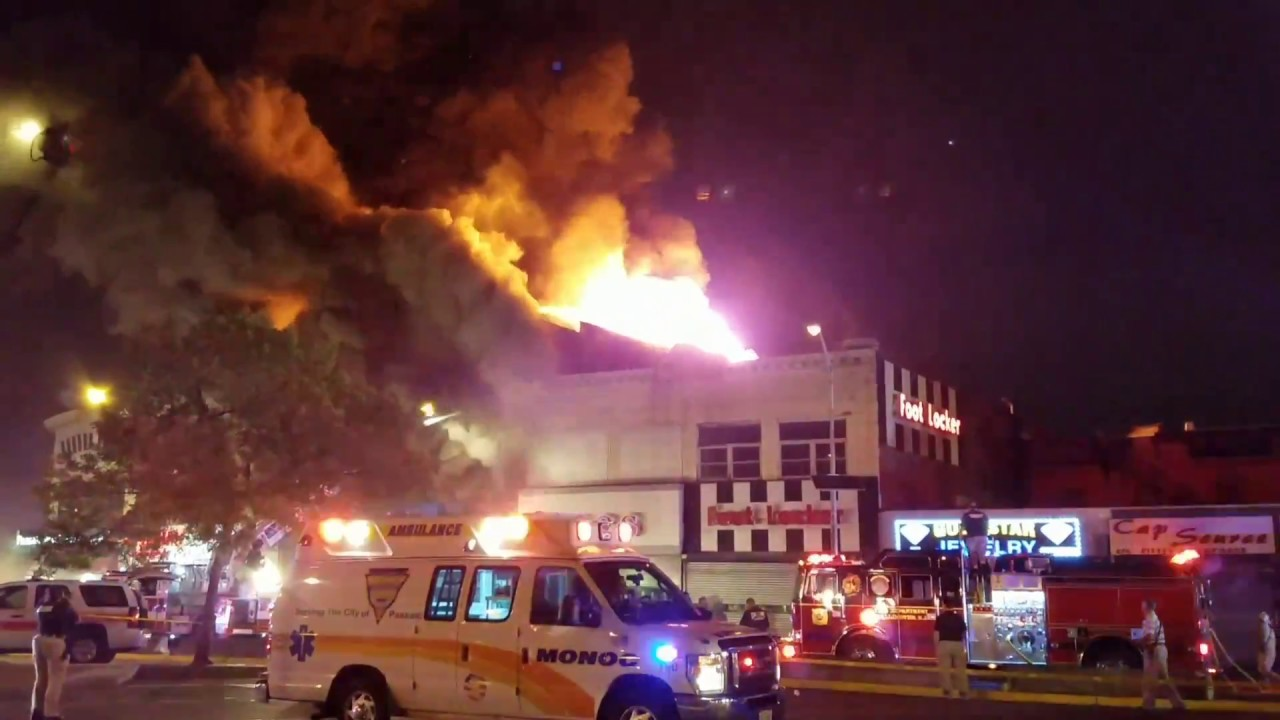 Passic New Jersey Multi Alarm Fire Pizza Store 688 Main