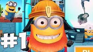 Despicable Me Minion Rush - Gameplay Walkthrough part 1(iOs, android)