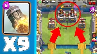 """""""ROCKETING"""" THE KING TOWER TO 0 HP! - Clash Royale - TROLLING IN CLAN BATTLES!"""