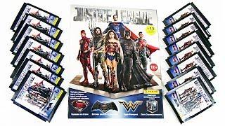 Наклейки PANINI Лига справедливости Супергерои Justice League DC Comics Surprise unboxing