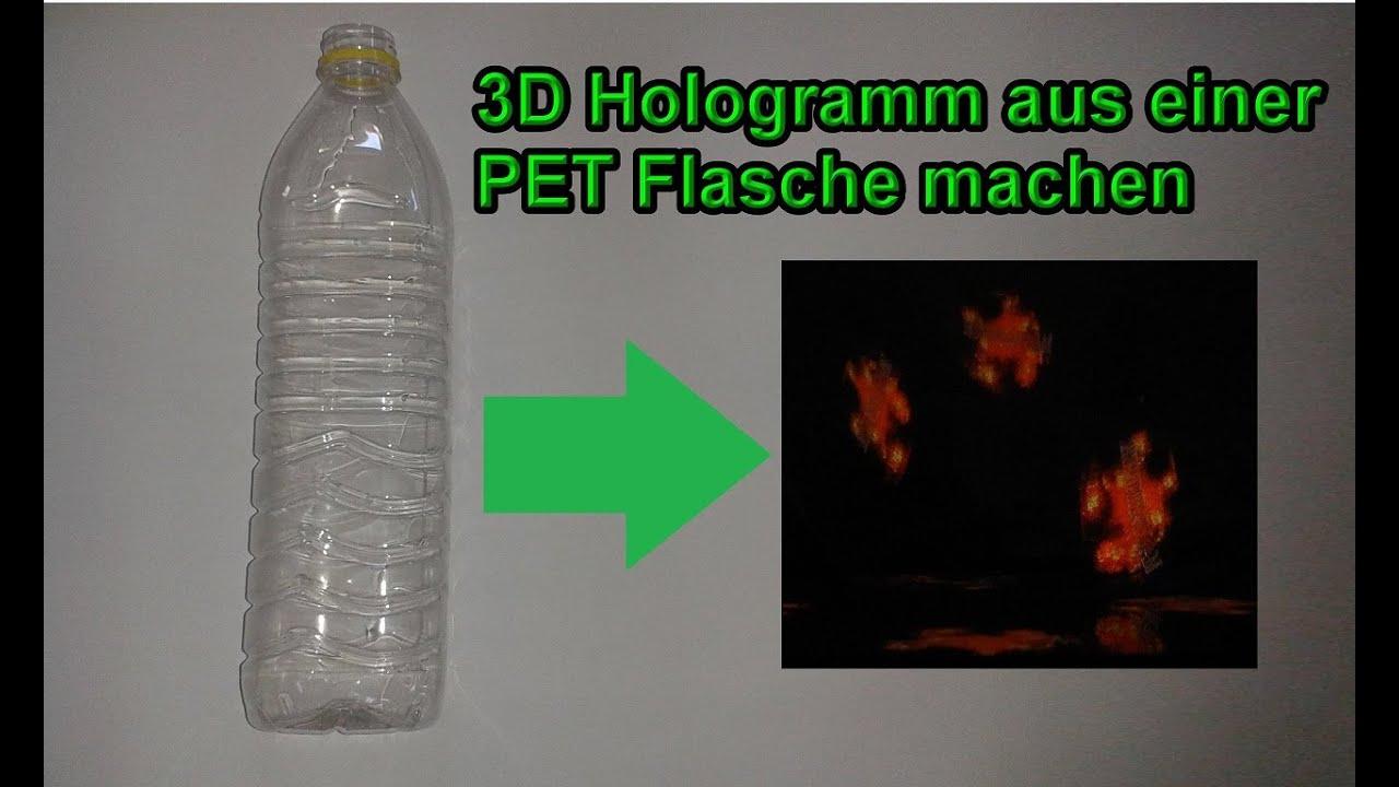 3d hologramm aus pet flasche selber bauen diy 3 d. Black Bedroom Furniture Sets. Home Design Ideas