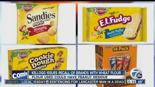 Kellogg's recalls nearly two-dozen snacks for possible peanut residue