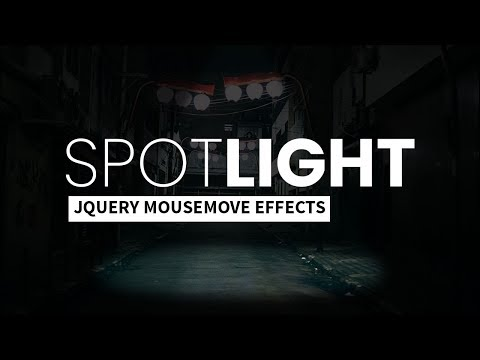 Spotlight Effect On Mousemove | Html CSS & JQuery