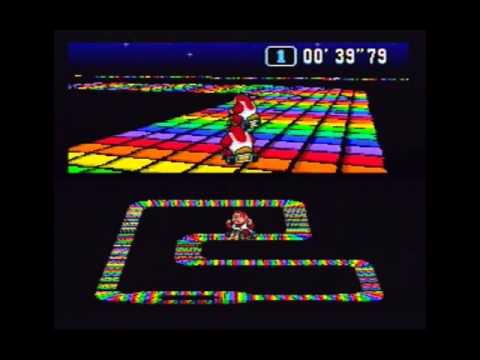 Super Mario Kart (NTSC) Time Trial : Rainbow Road (RR) - 1'23