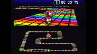 "Super Mario Kart (NTSC) Time Trial : Rainbow Road (RR) - 1'23""74 NBT (World Record)"