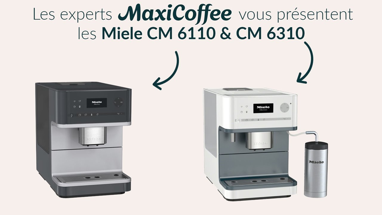 comparatif des machines expresso automatiques miele cm 6110 et cm 6310 youtube. Black Bedroom Furniture Sets. Home Design Ideas