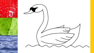 How to draw a Swan in 30 seconds