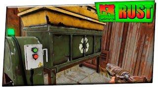 Rust Как легко пройти военные тунели ! Убил всех ботов . Топ ловушка на переработчике . #6