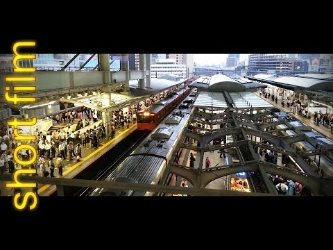 Rush Hour Osaka Station / short film Osaka HD