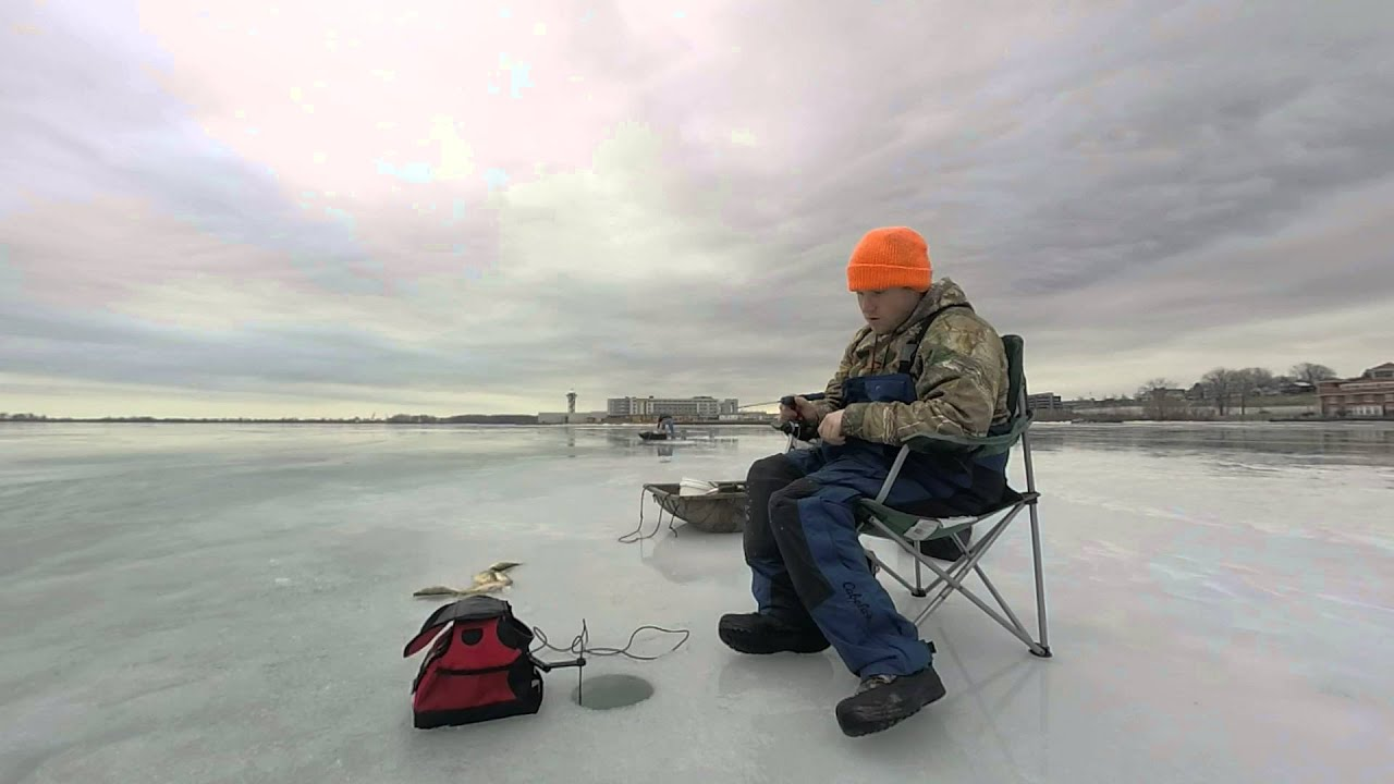 Ice fishing lake erie presque isle bay 01 30 2016 01 31 for Lake erie ice fishing