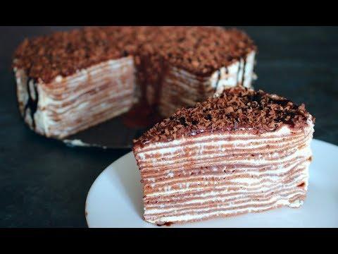 ТОРТ БЕЗ ДУХОВКИ, простой и нежный, шоколадный БЛИННЫЙ ТОРТ рецепт
