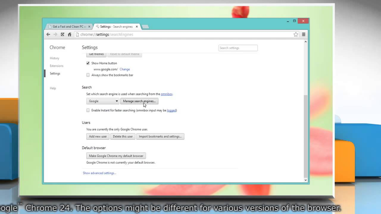 how to set your default search engine google chrome