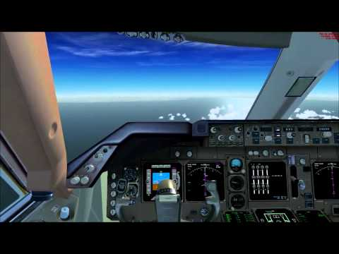 FSX HD - Pmdg Boeing 747-400 - Complete flight from London Heathrow to Paris Orly