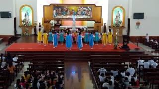 Dâng Mẹ gia đình và giáo xứ con giáo khu Giáng sinh - giáo xứ Phong cốc 20.05.2017