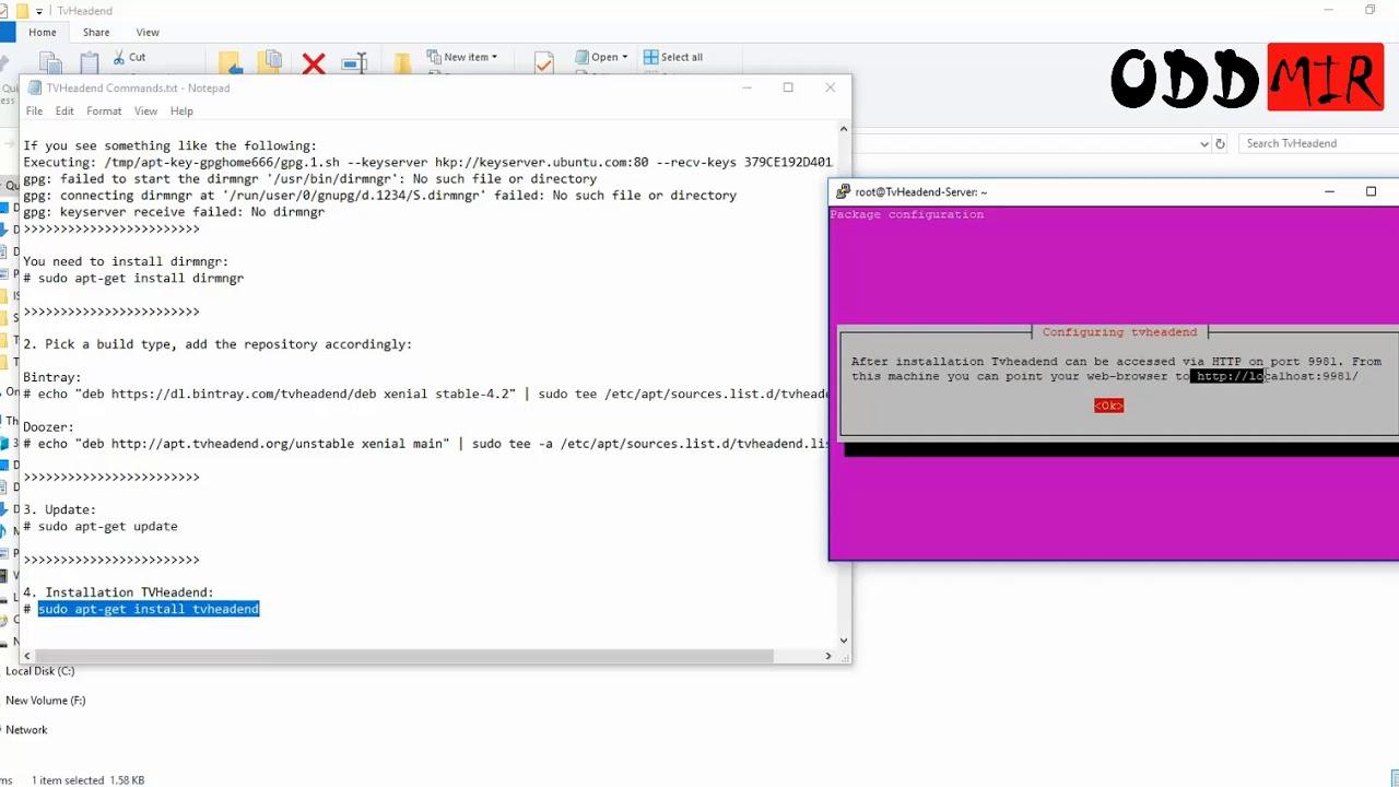 Installing TVHeadend on Ubuntu 16 04 [Solved]