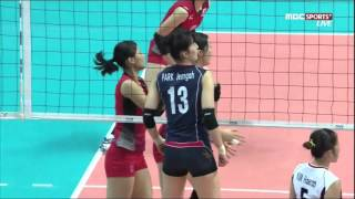 2014 InCheon AsianGames Women's Vollyball 20140930 [Korea vs Japan] Semi Final MBC Sports+