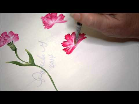 Learn How To Paint Carnations