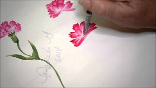 Learn How to Paint Carnations 2
