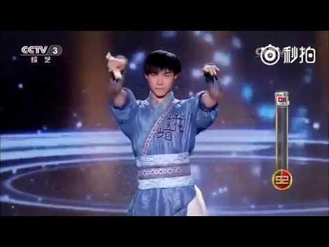 Kungfu chino de abánico