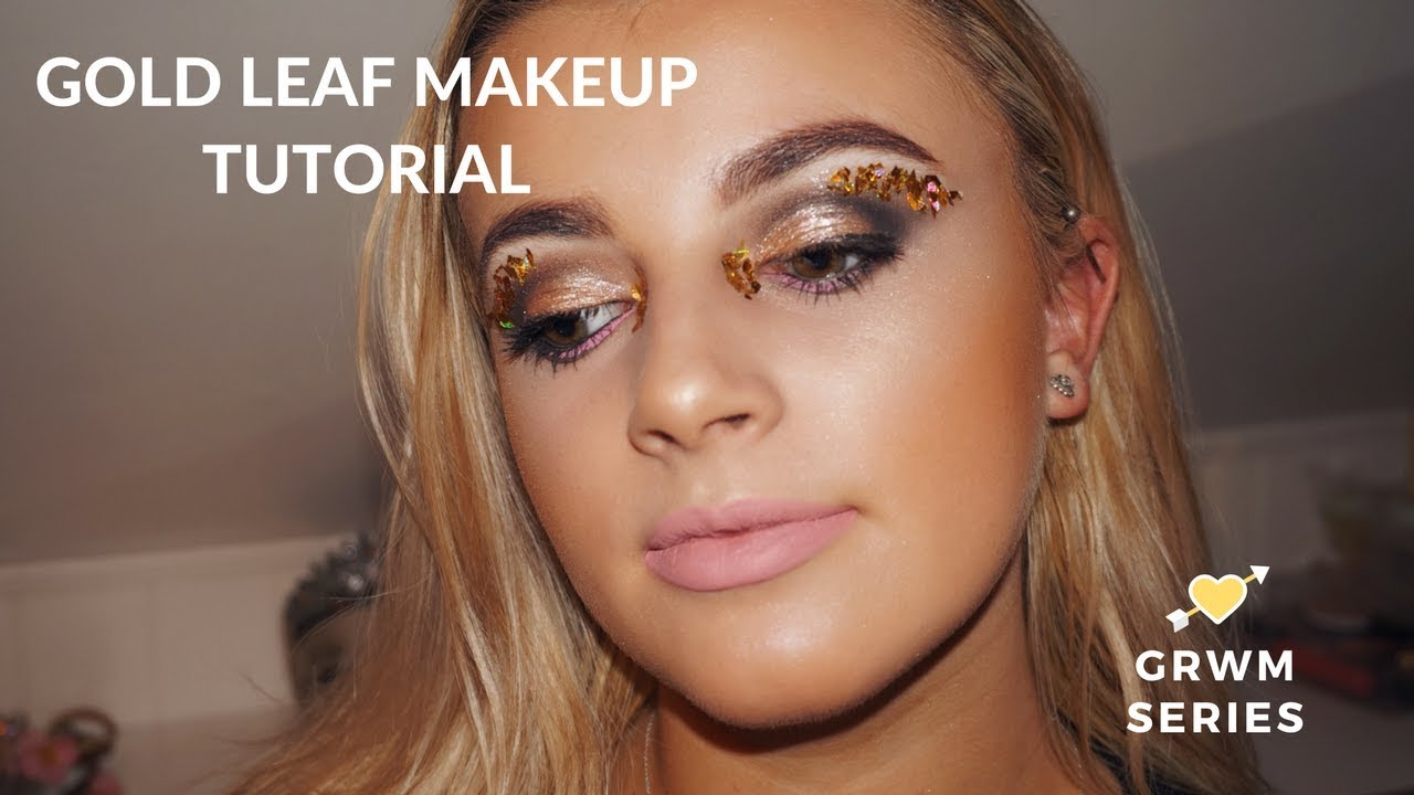 Gold Leaf Make Up Tutorial Mollyhadss Youtube