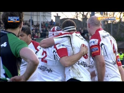Rory Best peels off maul to score try - Connacht v Ulster 19 Apr 2013