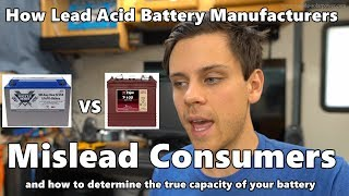 How Battery Manufacturers Rating Standards Mislead Consumers