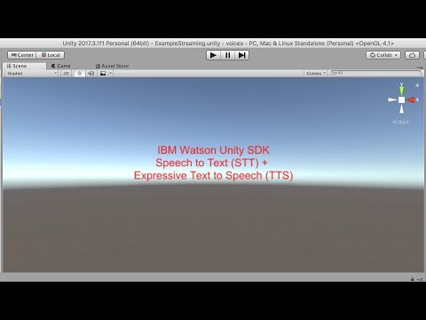 STT and TTS Expressive in Unity - YouTube