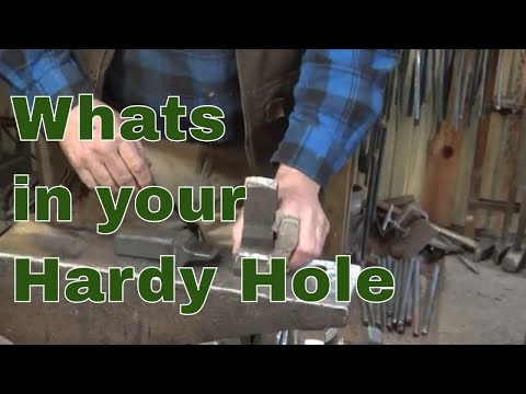 Tools for the anvil hardy hole - blacksmithing tools