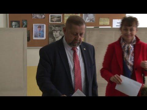 Slovakia's Presidential Candidate Stefan Harabin Votes