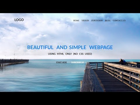 Beautiful And Simple WebPage Using HTML Only (No CSS Used) | HTML TUTORIALS