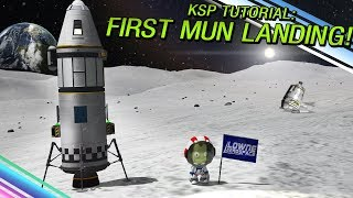 kerbal Space Program - Landing On Mun Using Only Solid Rockets - Now With Moar Boosters