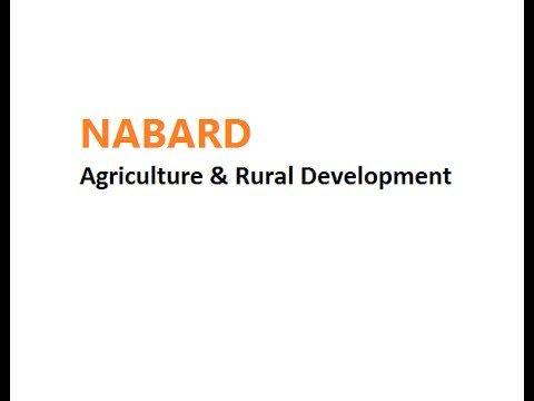 Agriculture & Rural Development Nabard Lecture-1